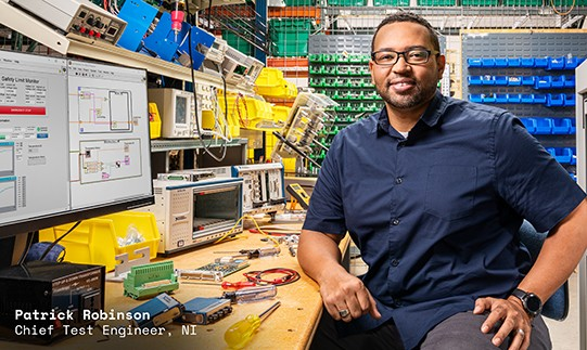 Patrick Robinson, Chief Test Engineer at NI, develops automated tests using LabVIEW