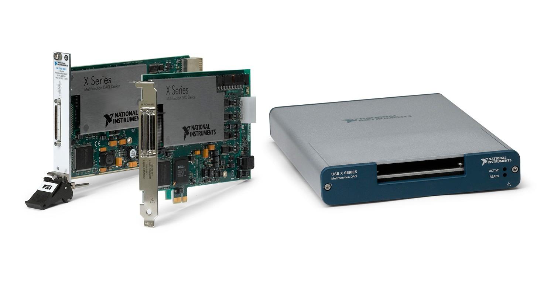 NI propose des périphériques de la Série X pour USB, PCI Express et PXI Express