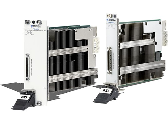Side view of PXI Digital Pattern Instruments, used for RF and mixed-signal ICs