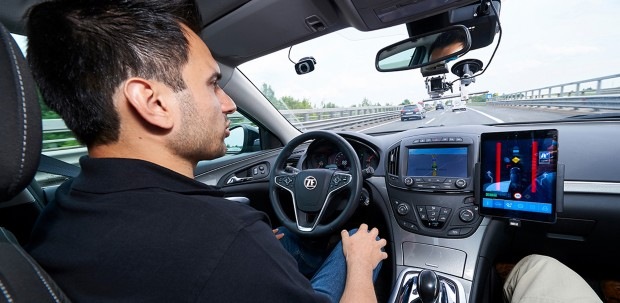 Driver assistance systems inside of an autonomous vehicle allow a driver to operate a vehicle hands-free on a busy highway
