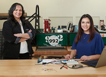 Olivia Garcia and Nelly Houston, from The Science Academy of South Texas