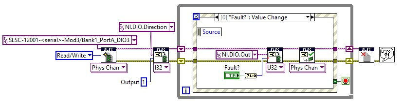 This code controls the relay and it can insert open circuit faults whenever the user desires or whenever the test suite programs