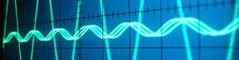 capture d'écran du signal sinusoïdal