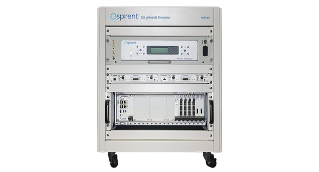 Front view of Spirent 8100 5G Mobile Device Test System