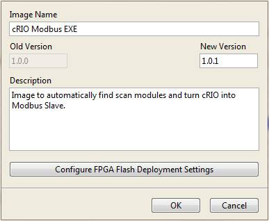 Application Image Configuration Dialog