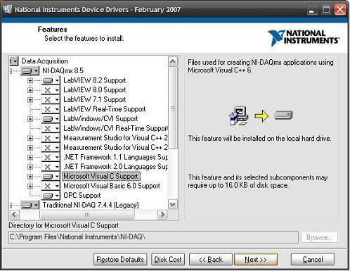 DAQmx ANSI C Support