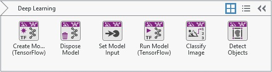 Deep Learning Functions in Vision Development Module