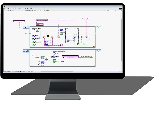 you can program on the fpga in compactrio using labview fpga