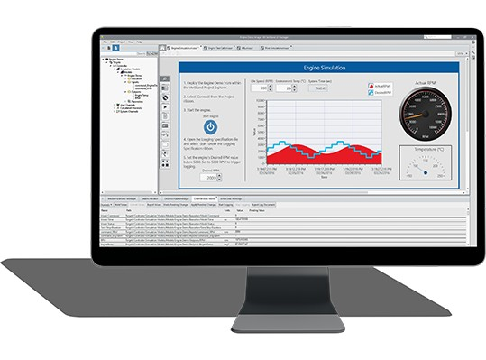 Screenshot of NI VeriStand software
