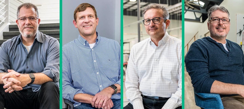 Eric Newman, CEO of Viviota. Tom Magruder, general manager of NOFFZ US Branch. Jeff Olsen, president of Hiller Measurements. Clint Biggs, president of Solubit, Inc.