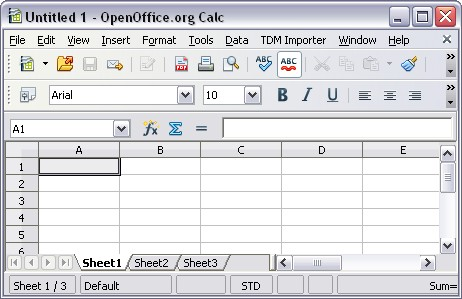 The free add-in for OpenOffice.org installs a new menu item into OpenOffice.org Calc for importing TDMS files