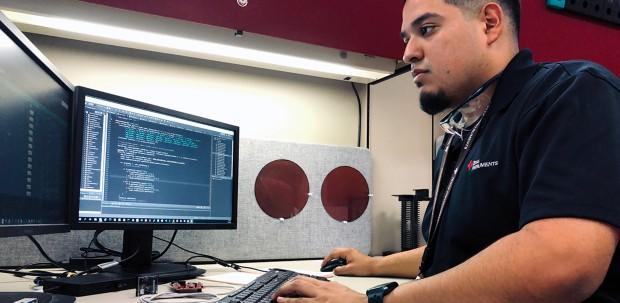 Rudy Medina, Jr., manufacturing engineer at Texas Instruments