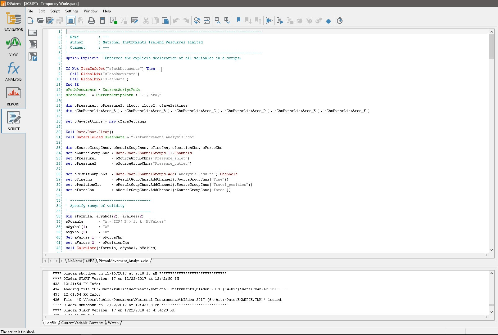 Automate tasks in DIAdem with scripting to save time and money