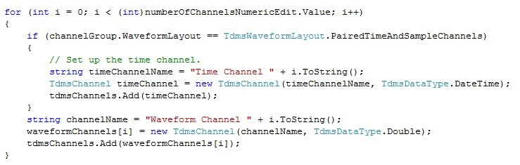 Measurement Studio includes a built-in TDM Streaming .NET Class Library