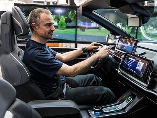 A driver operates an autonomous vehicle