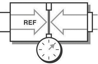 Differential pressure sensors measure pressure are taken with respect to a specified reference pressure.