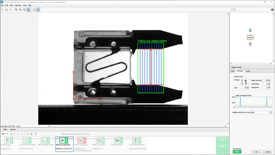 Vision Builder helps you interface with cameras and automate image inspection