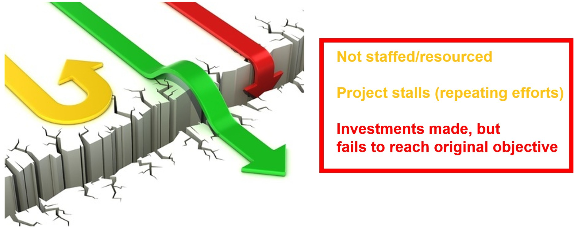 reasons for standardization efforts failing