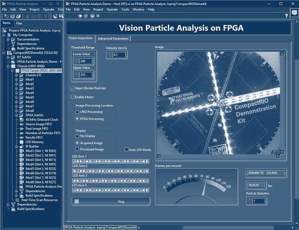 ハードウェアの自動検出と対話式パネルを使用して、すばやく計測を開始できます。