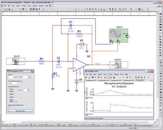 NI Multisim software contains a variety of simulation-driven instruments